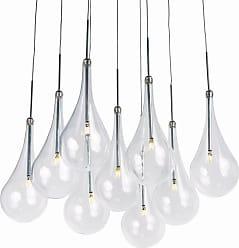 ET2 E20516 Larmes 12 LED Pendant Polished Chrome / Clear Glass Indoor