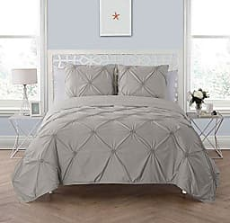VCNY Home VCNY Home Floral Burst 3 Piece Quilt Set, King, Grey