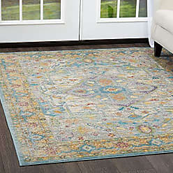 Home Dynamix M642A-620 Parlin Peony Area Rug 31 X 47 Gray-Yellow