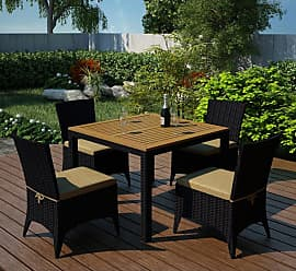 Harmonia Living Outdoor Harmonia Living Arbor Resin Wicker 5 Piece Square Patio Dining Set - HL-AR-CB-5DS-IN
