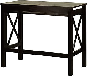 Yu Shan Casual Home Montego Folding Desk with Pull-Out Tray-Espresso