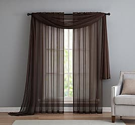 VCNY Home VCNY INF-PNL-108-IN-CH Infinity Sheer Panel, 55 by 108-Inch, Chocolate