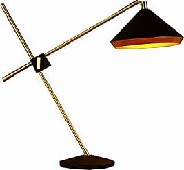 Bromi Design Leo Black and Gold Table Lamp, B9202