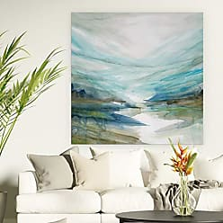 WEXFORD HOME Soft River Reflection Gallery Wrapped Canvas Wall Art, 16X16