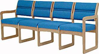 Wooden Mallet DW2-4 Valley 4-Seat Sofa, Light Oak/Charcoal Grey