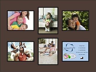 Art to Frames Double-Multimat-1018-776/89-FRBW26079 Collage Photo Frame Double Mat with 6-6x8 Openings and Satin Black Frame