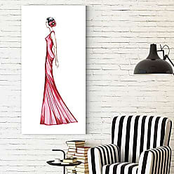WEXFORD HOME Dmitry Andruz Red Dress 3 Gallery Wrapped Canvas Wall Art, 18x36, 3