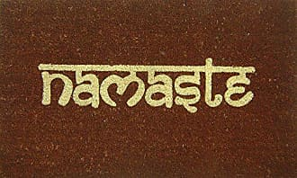 Geo Crafts G444 PVC Namaste Entry Way Doormat