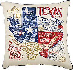 Primitives By Kathy LOL Made You Smile Throw Pillow, 20-Inch Square, Texas