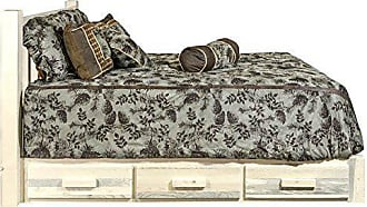 Montana Woodworks MWHCSBPQ Homestead Collection Queen Platform Bed with Storage, Ready to Finish