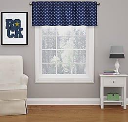 Ellery Homestyles Eclipse 15663052018DEN Kai 52-inch by 18-Inch Thermal Blackout Window Valance, Denim