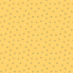 York Wallcoverings Bistro 750 Floral Dot Ditsy Wallpaper Yellow - KB8634
