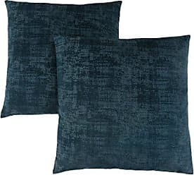 Monarch Specialties Brushed Velvet 18 x 18 Dark Blue 2 Piece Pillow, Size 8