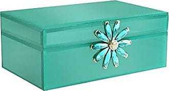 The Jay Companies American Atelier 1280668 Teal Flower Brooch Jewelry Box