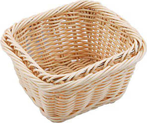 Paderno World Cuisine 7-Inch by 6-3/8-Inch Rectangular Polyrattan Bread Basket