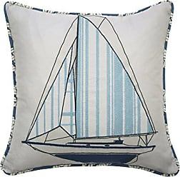 Ellery Homestyles WAVERLY Kids Set Sail Embroidered Decorative Accessory Pillow, 15 x 15, Multicolor