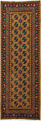 Nain Trading Handknotted Afghan Akhche Baghlan Rug 83x210 Runner Dark Grey/Brown (Wool, Afghanistan)