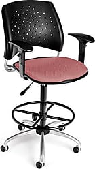 OFM 326-AA3-DK-2208 Stars Swivel Stool with Arms