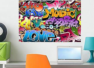Wallmonkeys FOT-28326015-24 WM47351 Graffiti Seamless Background Hip-hop Art Peel and Stick Wall Decals (24 in W x 16 in H), Medium