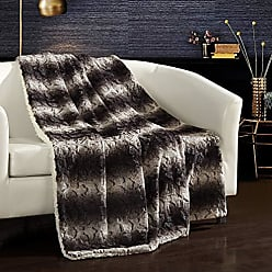 Chic Home Aleah Throw Blanket Cozy Super Soft Ultra Plush Decorative Two-Tone Faux Fur Look with Sherpa Lined Backing50 x 60, 50 x 60, Brown