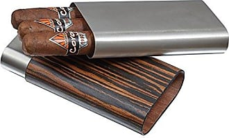 Visol Products Carver Ebony Wood Wrapped Cigar Case