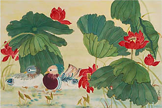 Louis Leonard Art Mandarin Duck in Lotus Pond I by Jamaliah Morais Canvas Wall Art - JAM013-1827