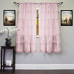 Sweet Home Collection Window Curtains Treatment Panel 63 or 84 Long in Stylish and Unique Patterns and Designs for All Home Décor Cascading Pink