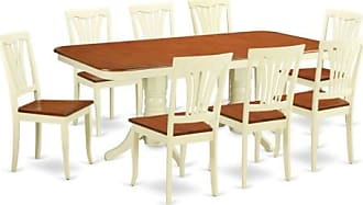 East West Furniture Kenley 9 Piece Trestle Dining Table Set with Avon Chairs