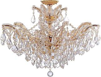 Crystorama Maria Theresa 12-Light Semi-Flush in Gold