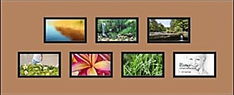 Art to Frames Double-Multimat-1030-771/89-FRBW26079 Collage Photo Frame Double Mat with 7-3x5 Openings and Satin Black Frame
