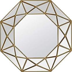Varaluz Casa 408A02 Geo Octagonal Wall Mirror - Painted Gold