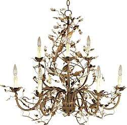 Maxim Lighting Maxim 2852EG Elegante 9-Light Chandelier in Etruscan Gold