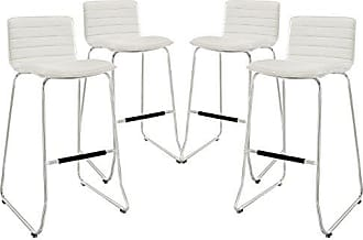 ModWay Modway Dive Bar Stools In White - Set of 4