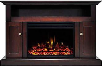 Cambridge Silversmiths Sorrento Heater with 47-in. Mahogany TV Stand, Enhanced Log Display, Multi-Color Flames and Remote Control, CAM5021-2MAHLG3 Electric Fireplace