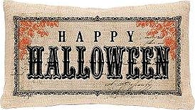 Heritage Lace Vintage Halloween Decorative Pillow Cover, 12 x 20, Natural