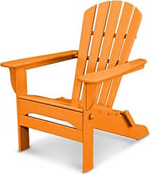 Ashley Furniture POLYWOOD Emerson All Weather Shellback Adirondack Chair, Tangerine