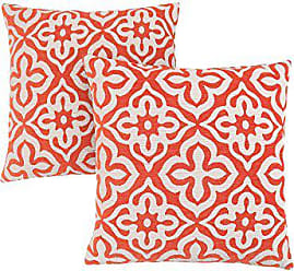 Monarch Specialties Motif Design 18 x 18 Orange 2 Piece Pillow