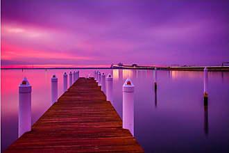 Noir Gallery Chesapeake Bay Bridge Sunset in Maryland Canvas Wall Art - ESMD-03-TW-08