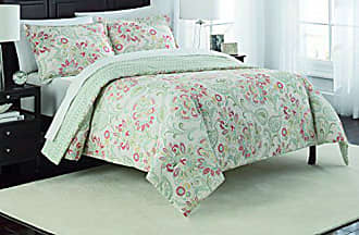 Ellery Homestyles Marble Hill Carlisle Reversible Comforter Set, Queen, Basil
