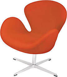 Pangea Home Star Fabric Lounge Chair Orange - CH-ASTRO ORNG FAB