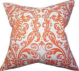 The Pillow Collection Saskia Damask Bedding Sham Orange Standard/20 x 26