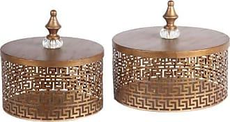 Privilege International Latticed Iron Box - Set of 2