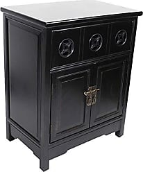 Heather Ann Creations The Danielson Collection Contemporary Style Multi-Use Double Door Accent Cabinet, Black