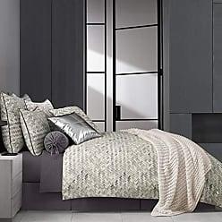 Five Queens Court Haven Basket Weave Chevron 100% Twill Cotton 4 Piece Comforter Set, Lavender, Queen 92x96