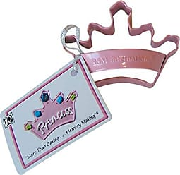 CybrTrayd RM-0623/P R&M Crown 3.5 Cookie Cutter with Handle and Recipe Tag, Pink