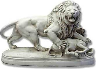 Orlandi Statuary Lion Capturing Lamb Garden Statue - F68280LIONWITHLAMB