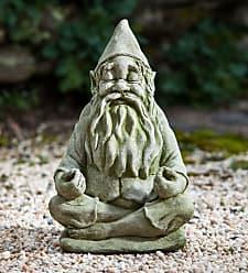 Campania International USA-Made Handcrafted Stone Big Fred Gnome Garden Statue