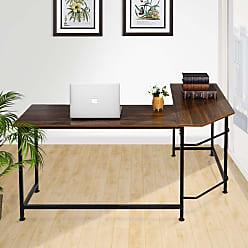 Overstock VECELO Home Office Desk Modern Style L-Shaped Corner Computer Desk (Computer Desks)