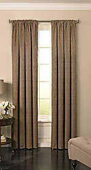 Ellery Homestyles BEAUTYREST Blackout Curtains for Bedroom - Barrou 52 x 84 Insulated Darkening Single Panel Rod Pocket Window Treatment Living Room, Taupe
