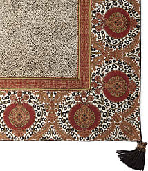 Dian Austin Couture Home Maximus Square Tablecloth with Tassels